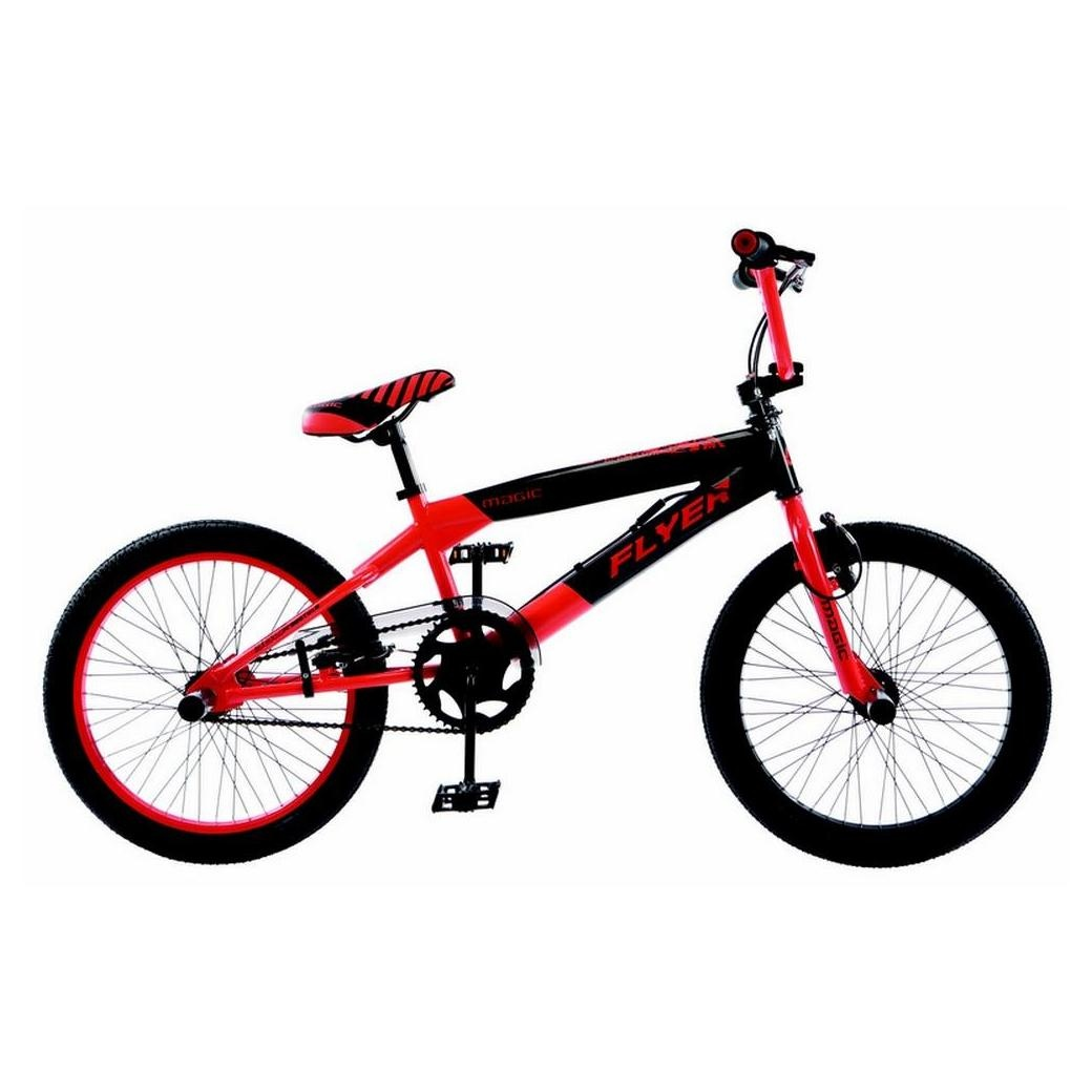 bmx abrar flyer rouge street flat avec 4 pegs et axe de 14 mm. Black Bedroom Furniture Sets. Home Design Ideas
